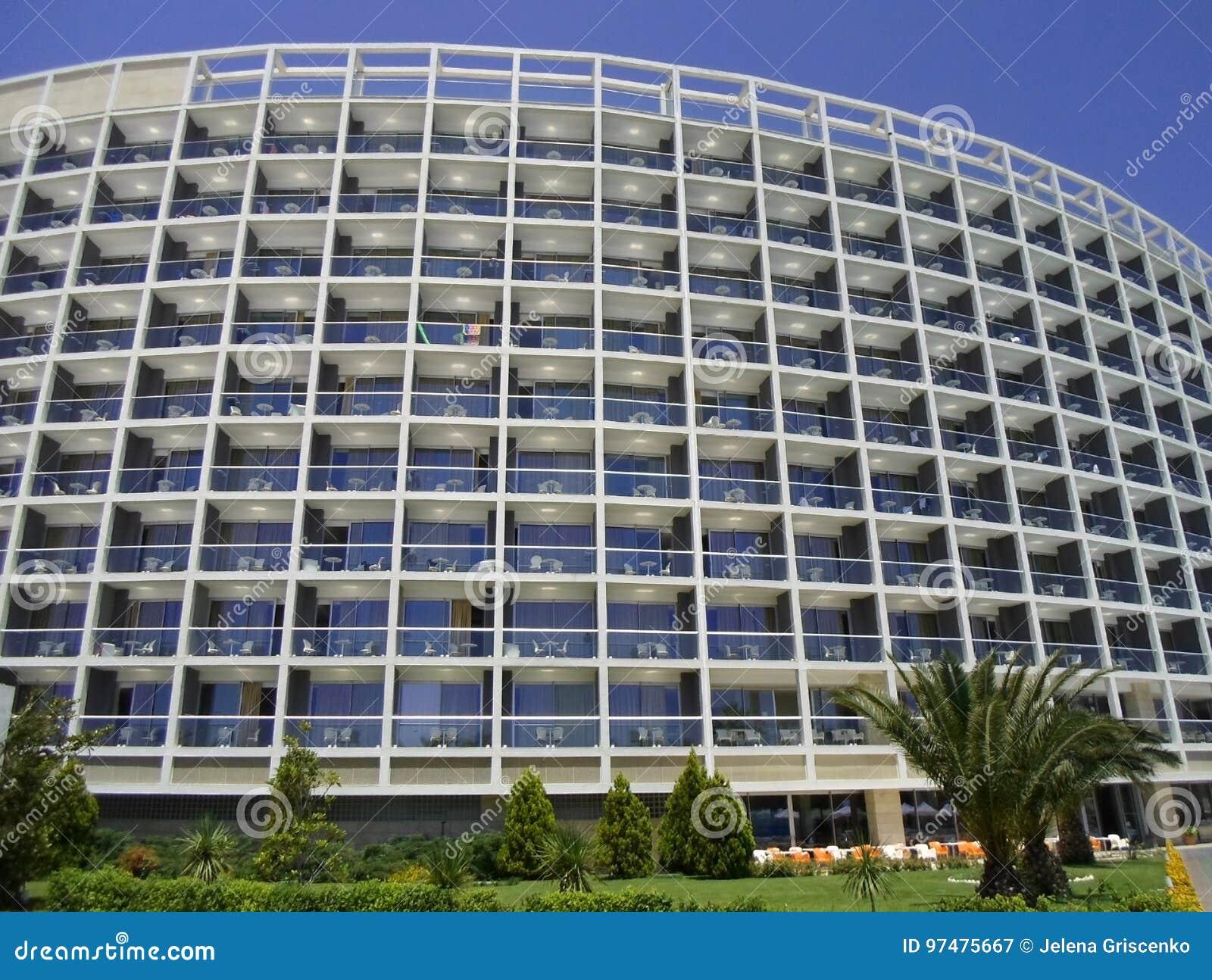 Hotel e territorio a Adalia un giorno soleggiato