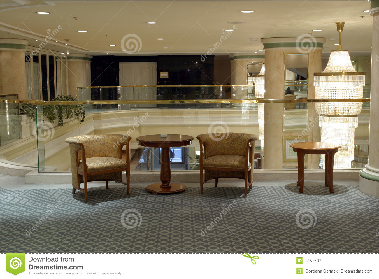 Hotel foyer royalty free stock photography image 1851587 for Hotel foyer decor