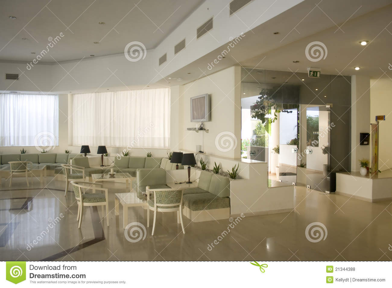 Foyer Hotel : Hotel foyer stock photo. image of greece lobby 21344388