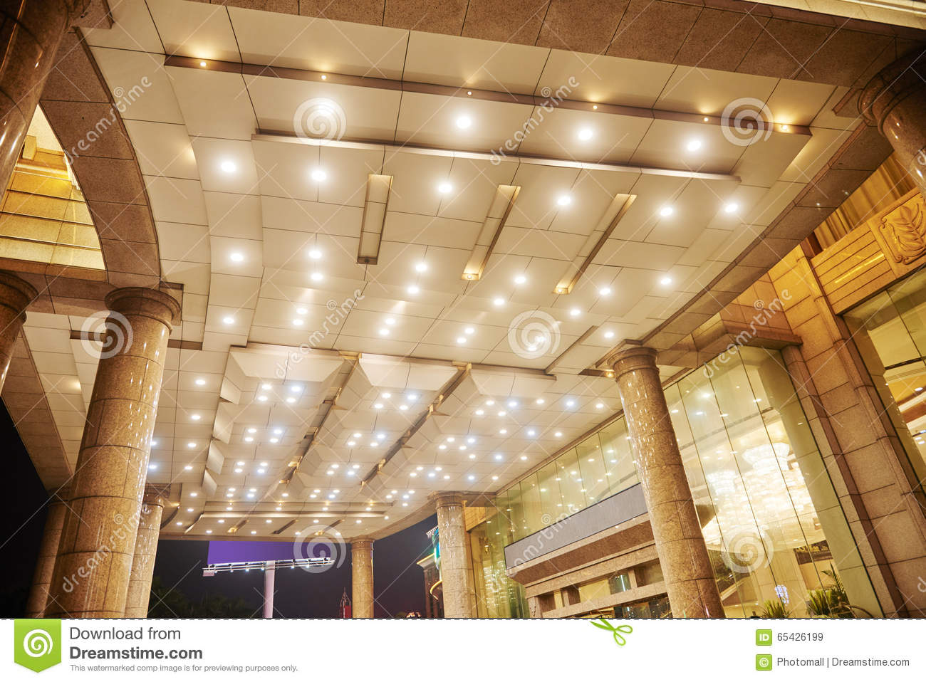 Hotel Hall Lobby Ceiling Led Lighting Stock Photo Image