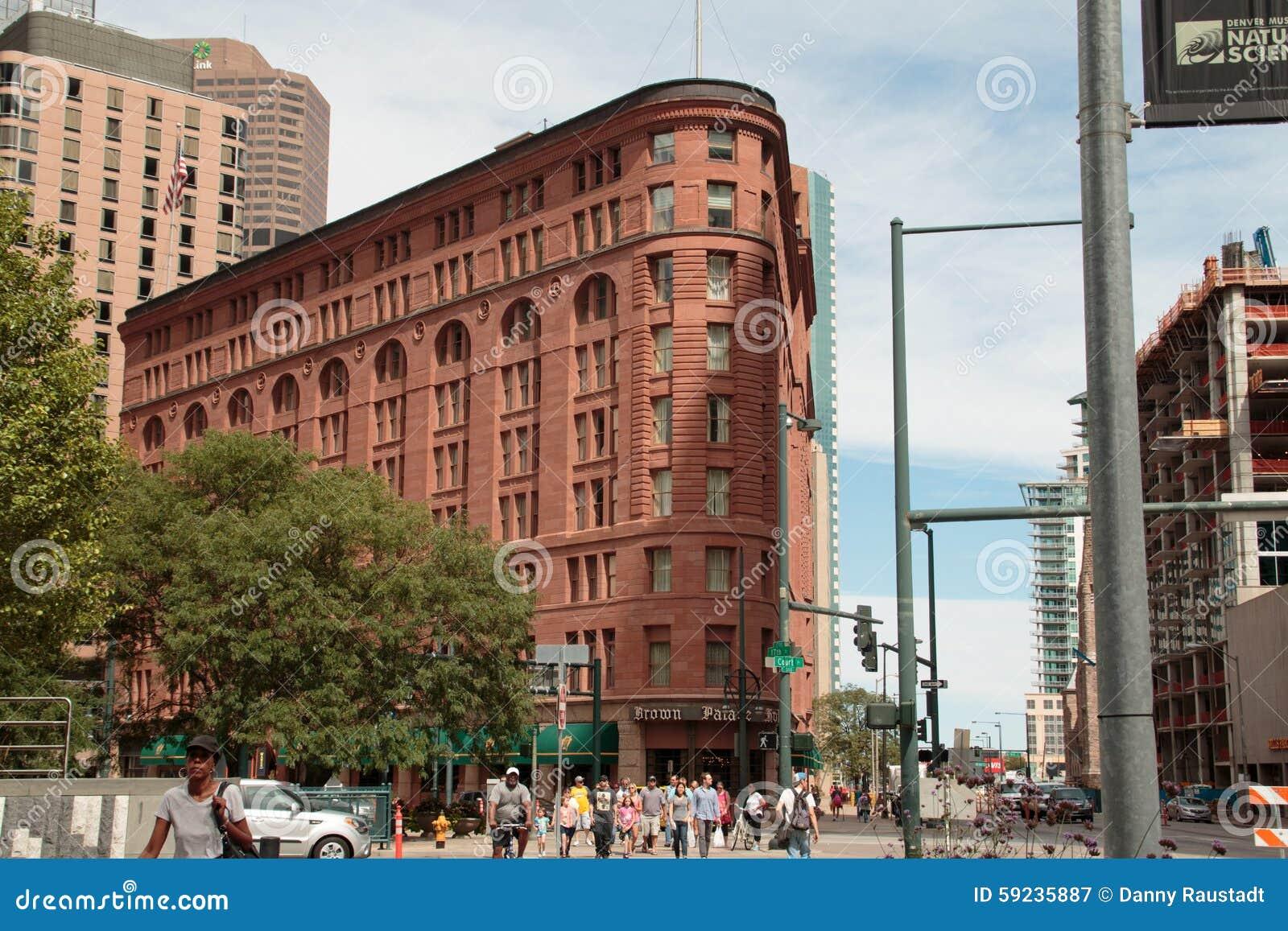 Hotel histórico del palacio de Brown en Denver céntrica