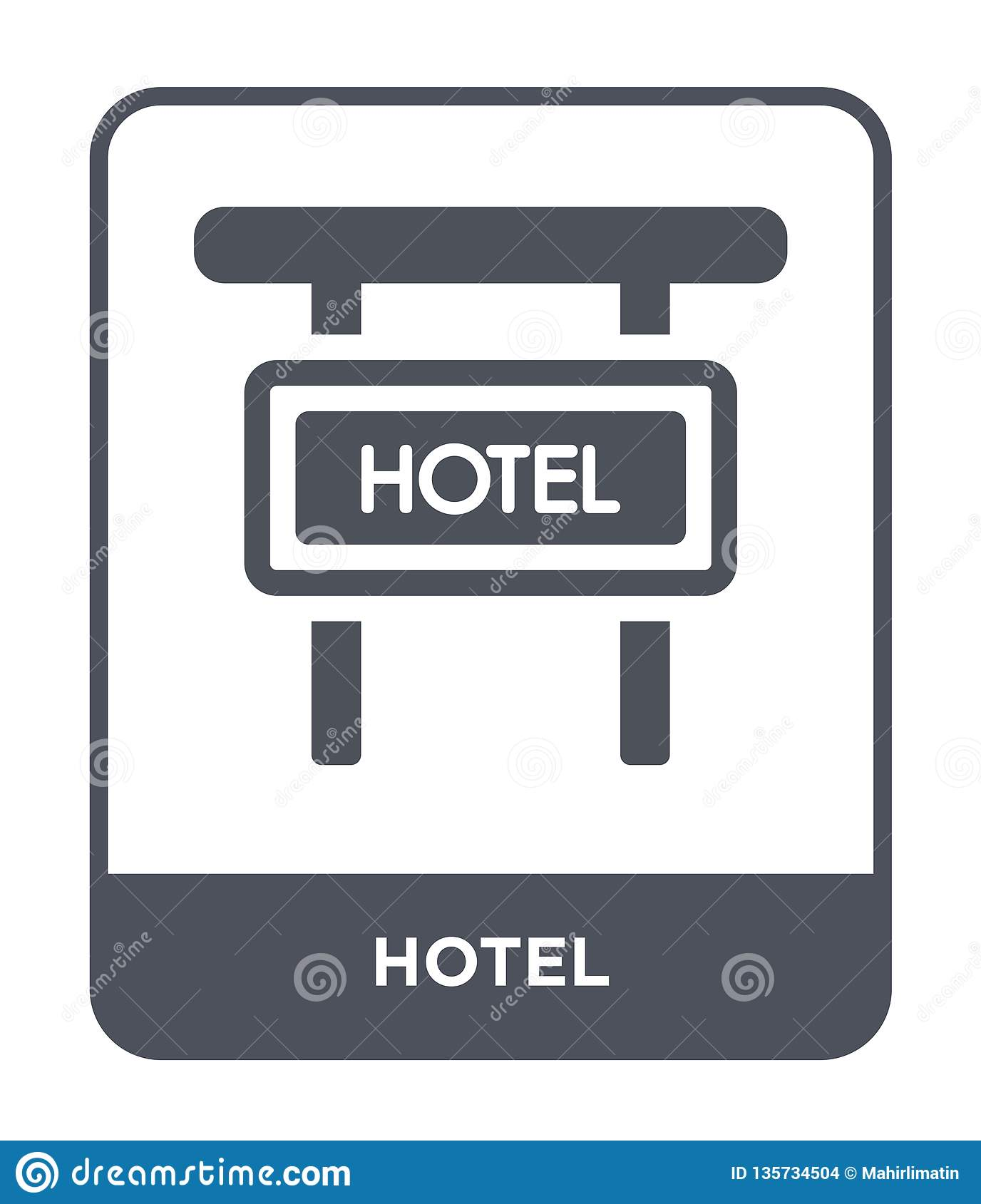 hotel icon in trendy design style. hotel icon isolated on white background. hotel vector icon simple and modern flat symbol for