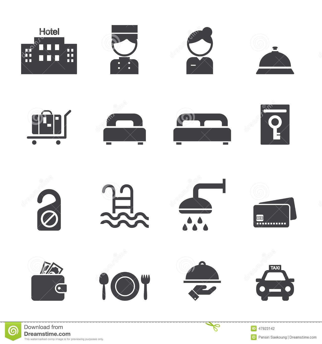 Vector Illustration Web Designs: Hotel Icon Stock Photo. Image Of Icon, Credit, Card, Domed