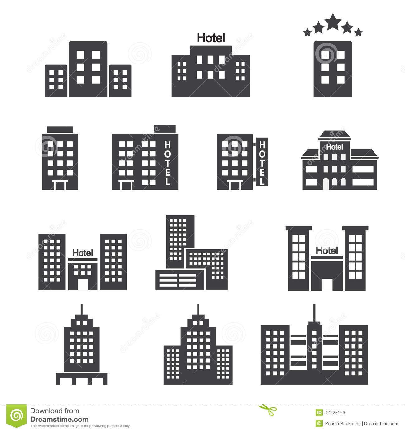 Garage door clip art - Hotel Icon Stock Vector Image Of High Business Cities