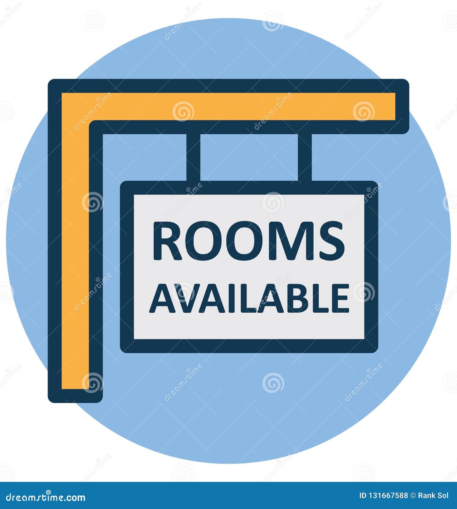 Hotel, icono aislado del vector de la información de hoteles que puede modificarse o corregir fácilmente
