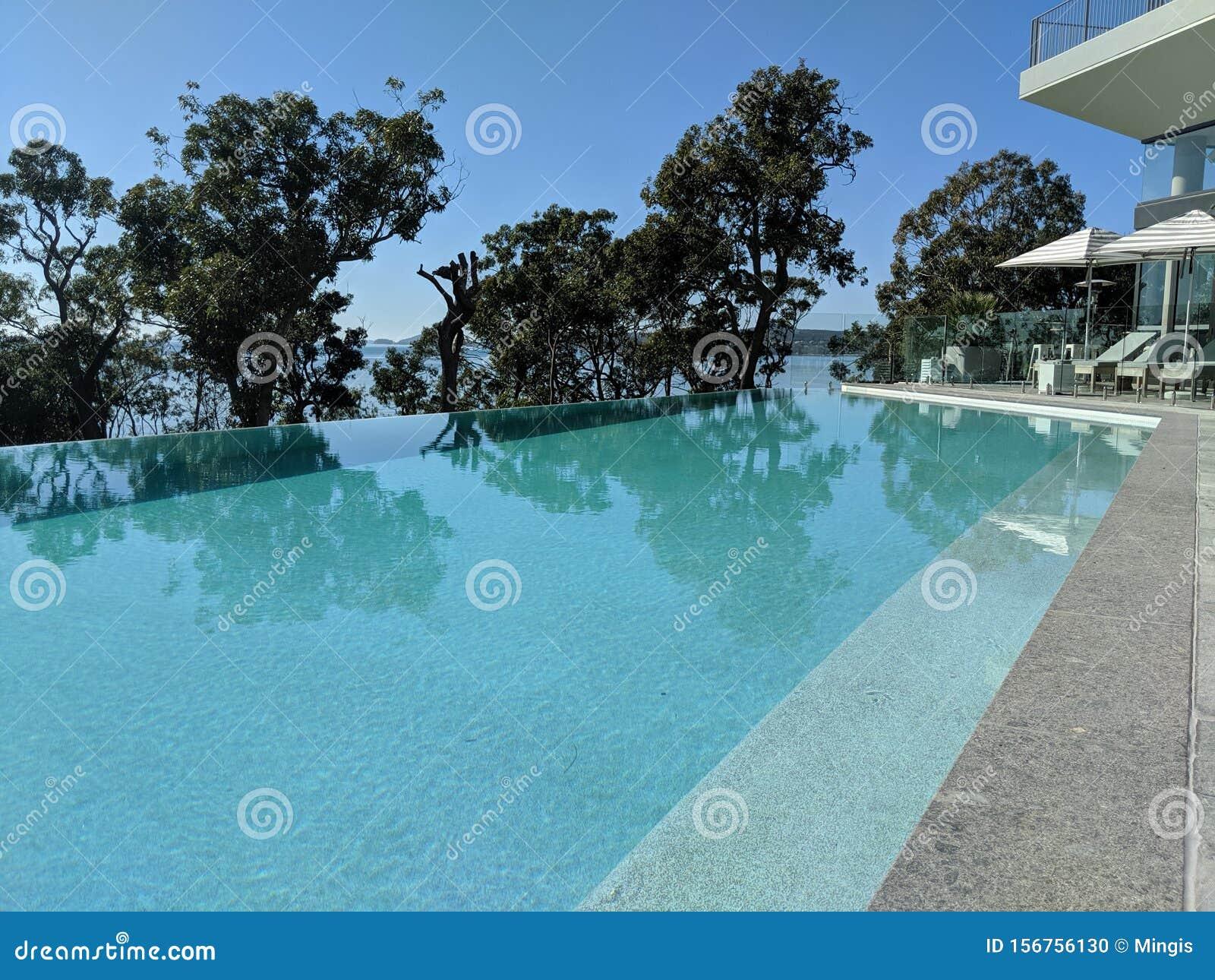 Hotel Infinity Pool Overlooking The Ocean
