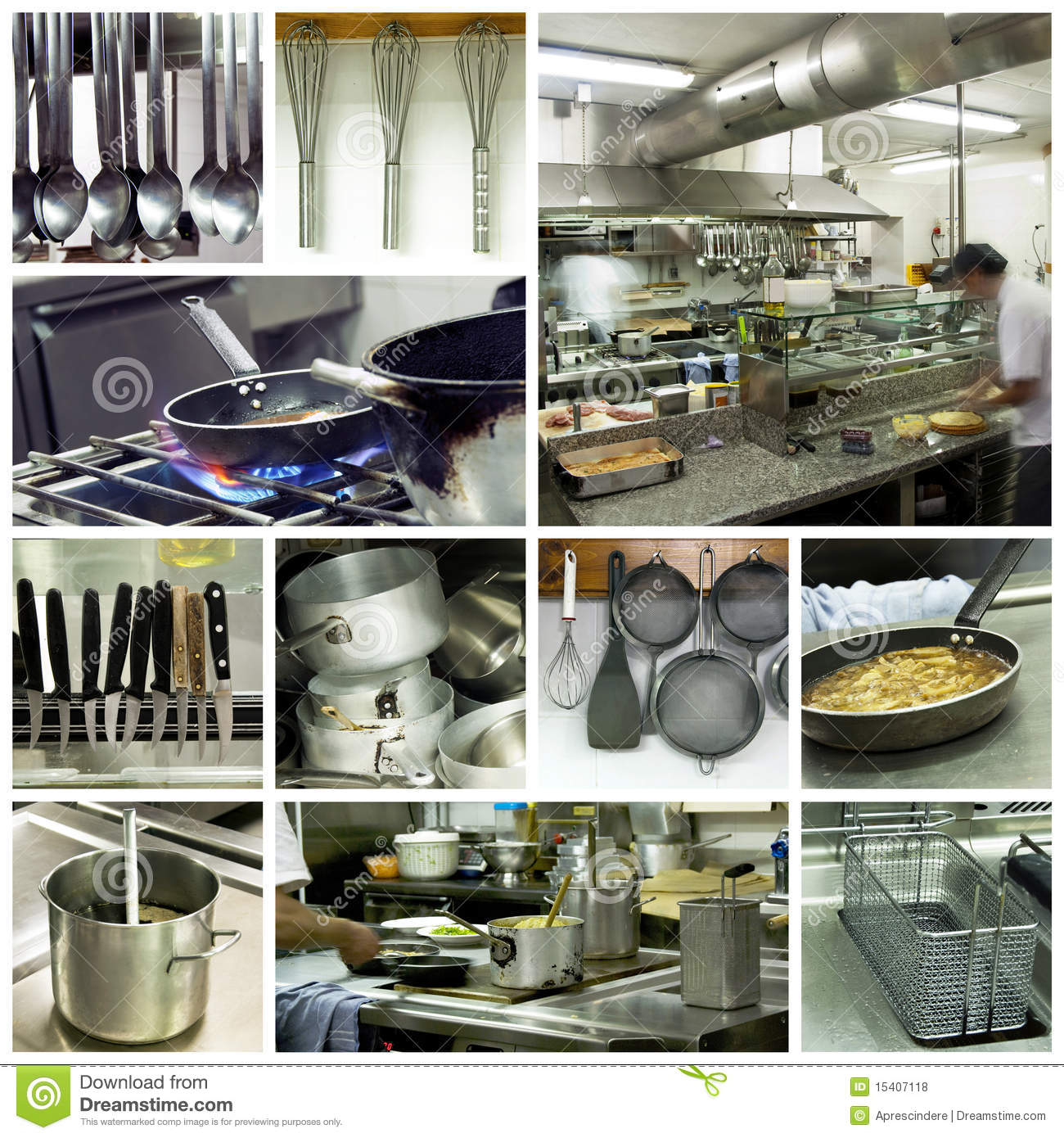 Hotel Kitchen Collage Stock Photo. Image Of Aroma, Dishes
