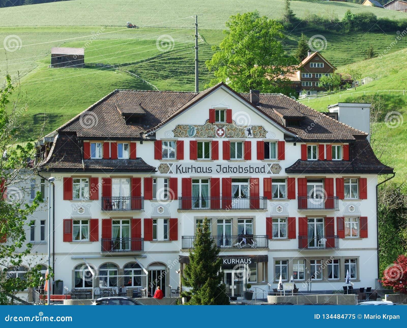 Hotel Kurhaus Jakobsbad In Jakobsbad Editorial Image