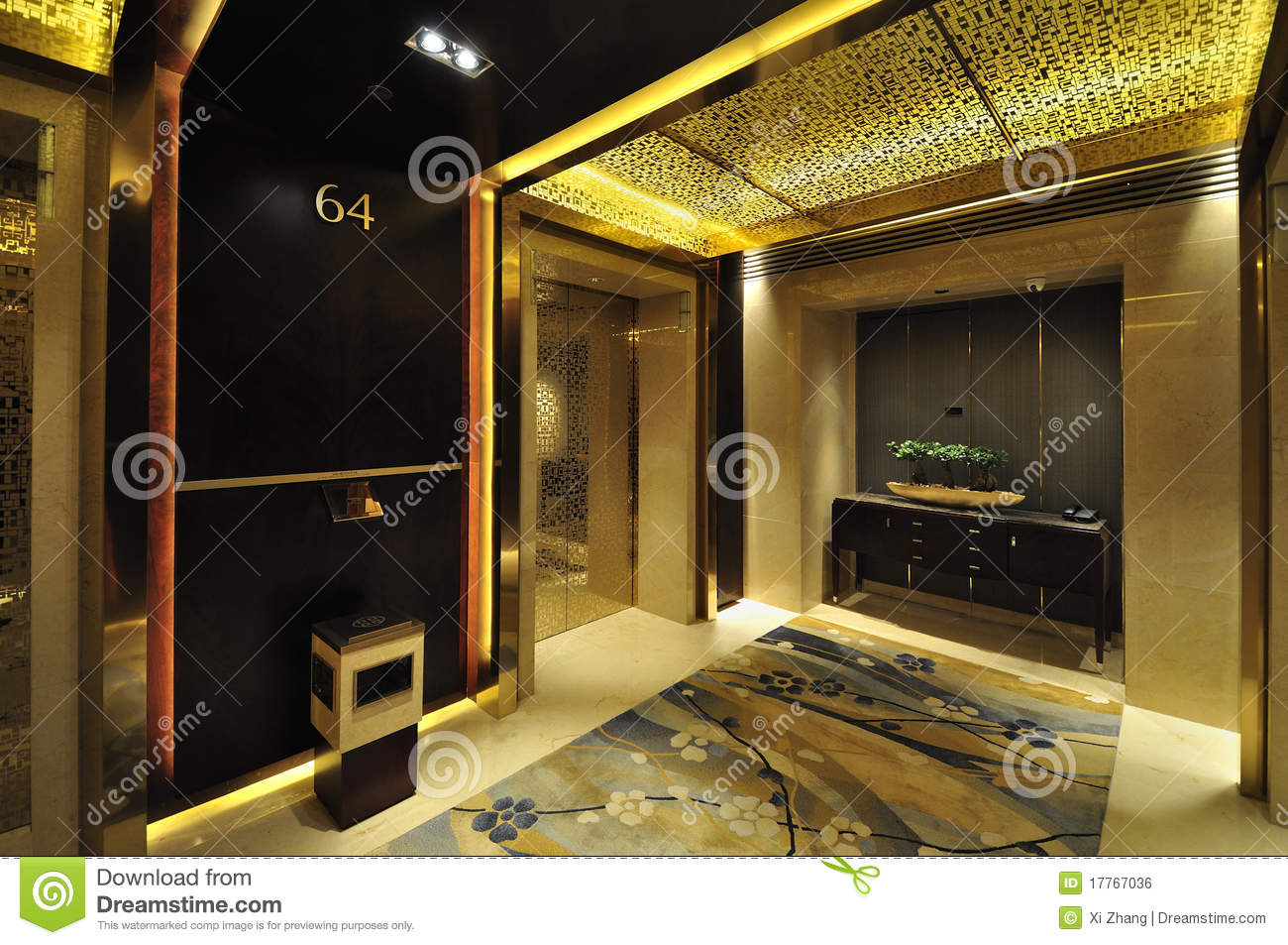 Hotel Lobby And Elevator Stock Photo Image Of Style