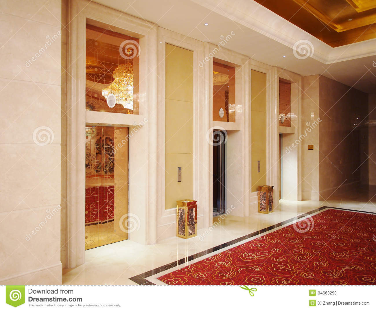 Hotel lobby and elevator stock photo image 34663290 for Luxury elevator
