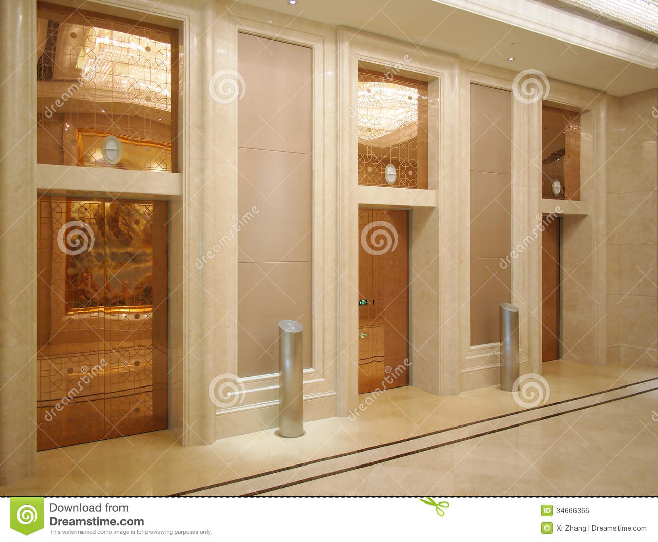 Hotel Lobby And Elevator Stock Photo Image Of Decoration