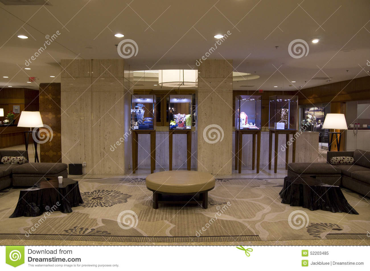 Hotel Lobby Of Four Seasons Vancouver Editorial Image Image