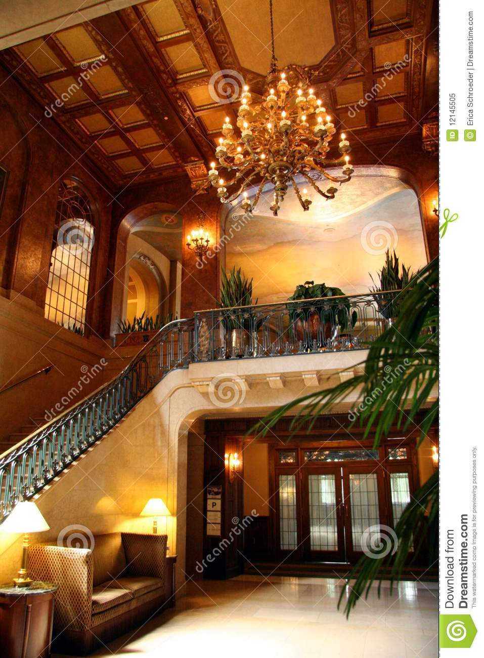 Hotel Lobby Interior Stock Image Image Of Fancy Place