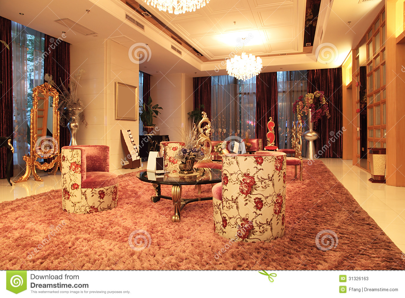Hotel lobby interior stock image image of city design for Very luxury hotels