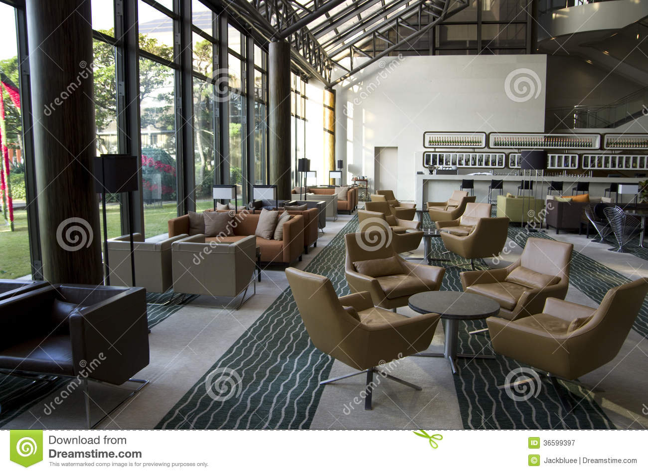 Hotel Lobby Lounge Bar Royalty Free Stock Photography