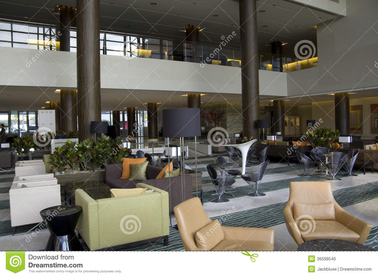 Hotel Lobby Lounge Bar Stock Photo