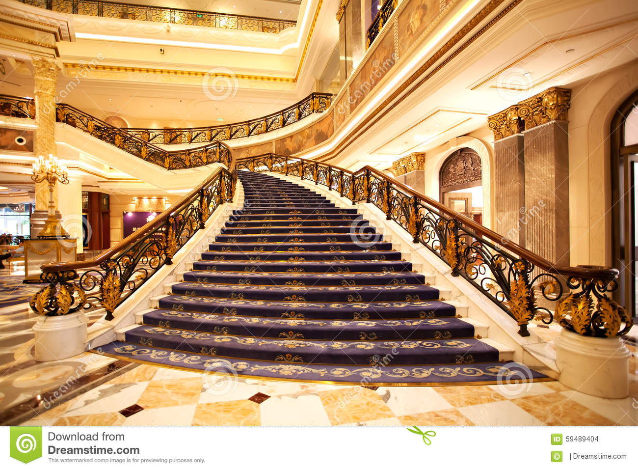 The Hotel Lobby Stairs Stock Photo Image Of Modern