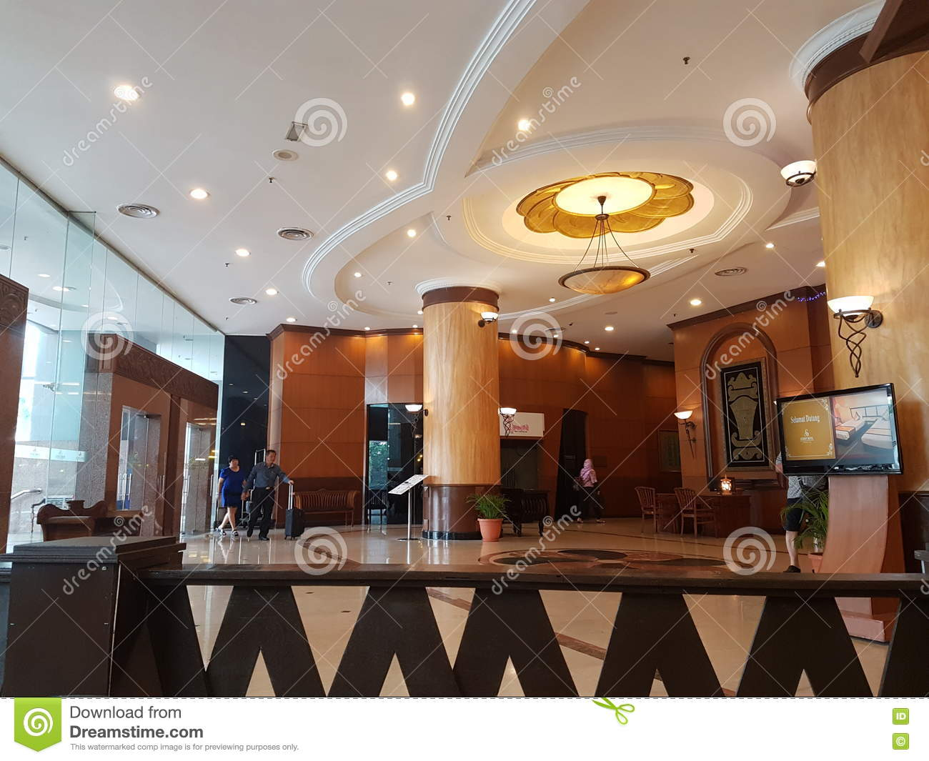 Hotel Lobby , Summit Hotel USJ Editorial Photography - Image