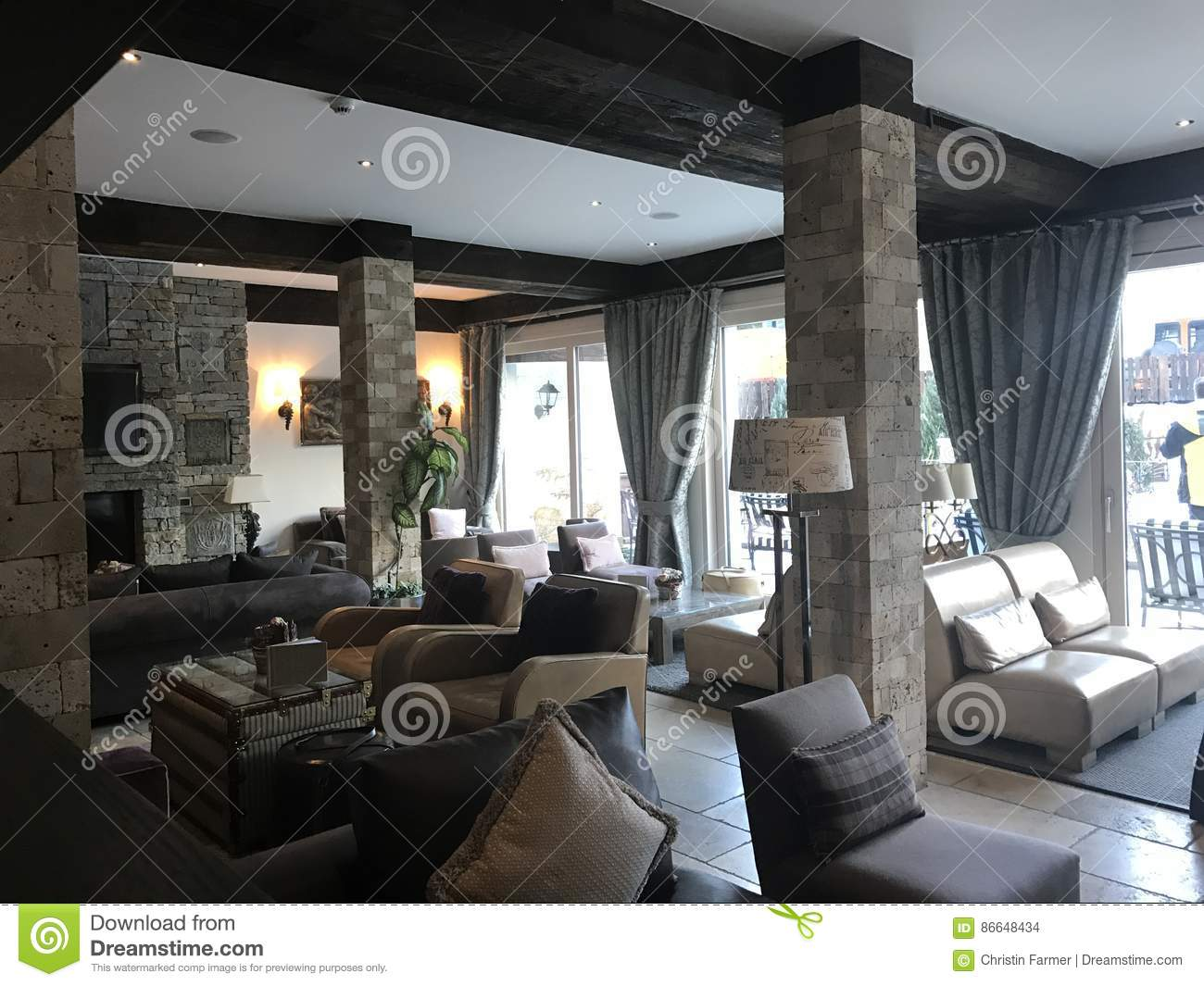 Hotel Lounge editorial stock image. Image of modern, hotel ...