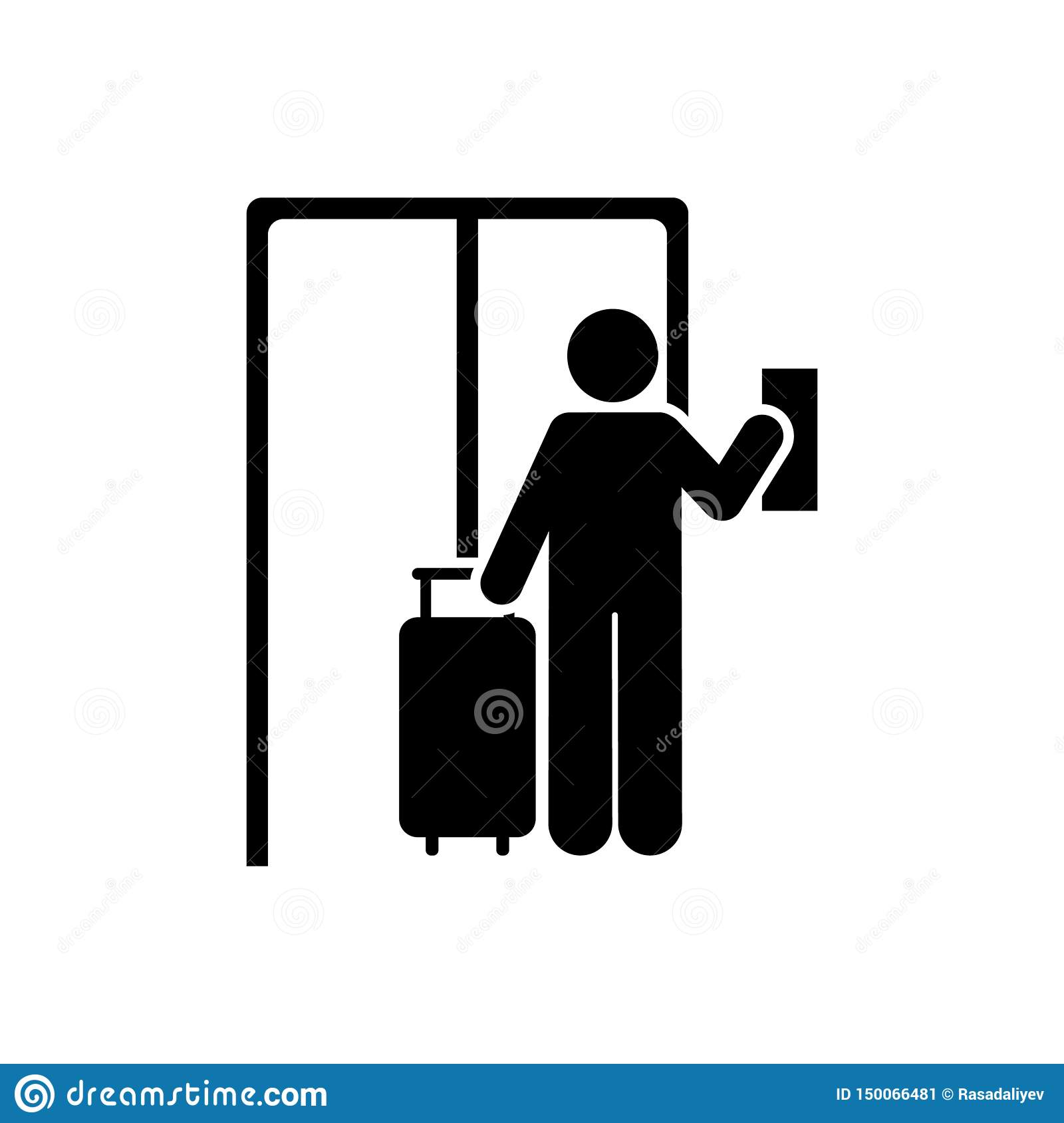 Hotel, man, travel icon. Element of hotel pictogram icon. Premium quality graphic design icon. Signs and symbols collection icon