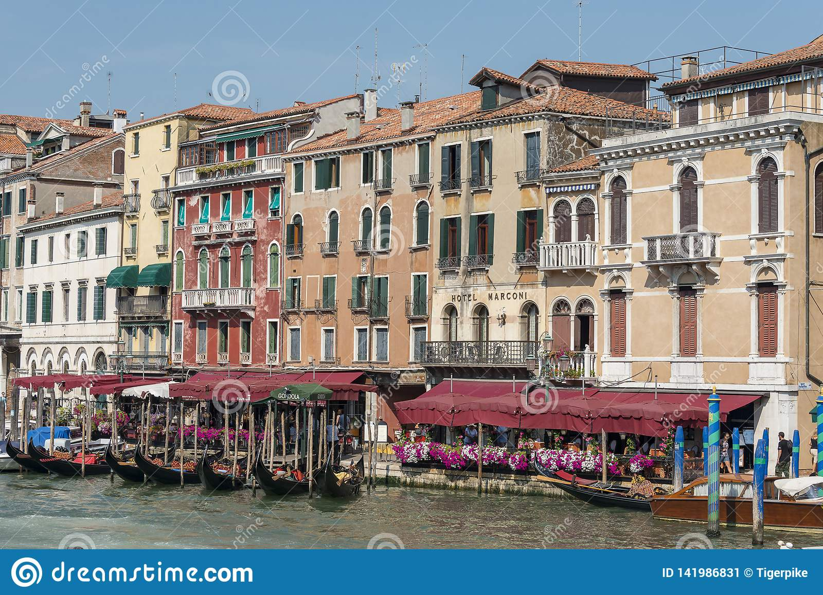 Hotel Marconi Venice Italy editorial photo. Image of ...