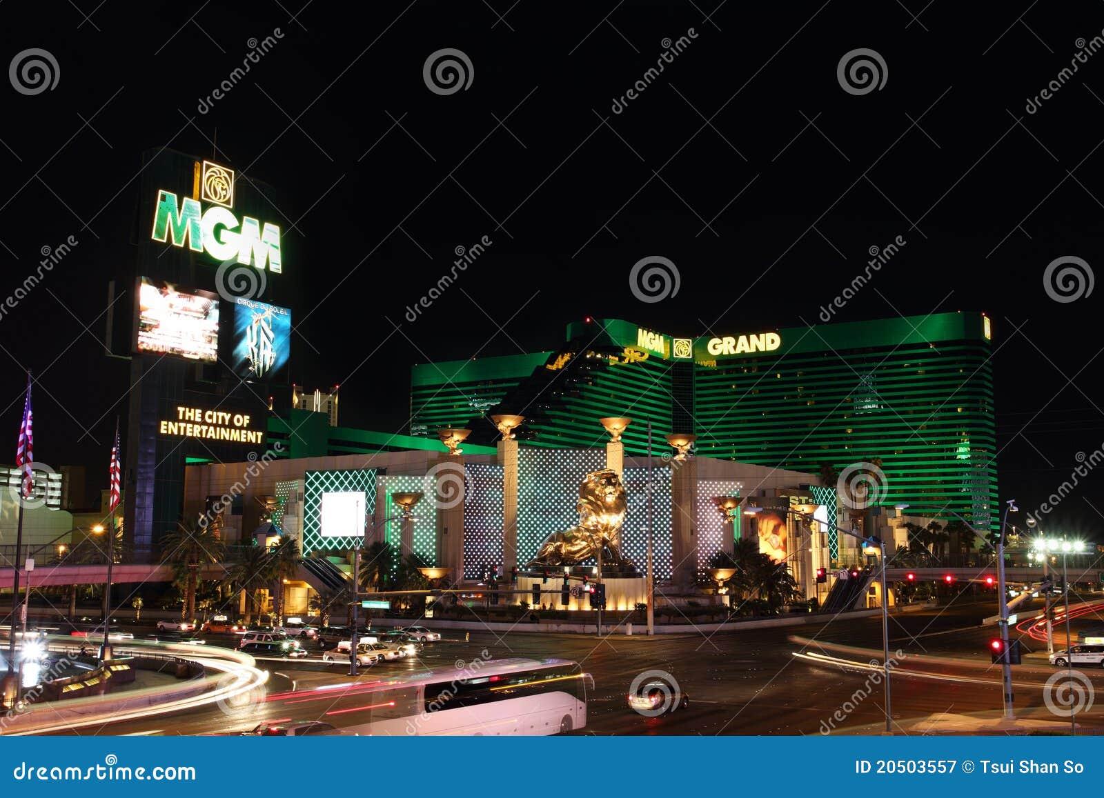Hotel MGM in de Strook van Las Vegas bij Nacht