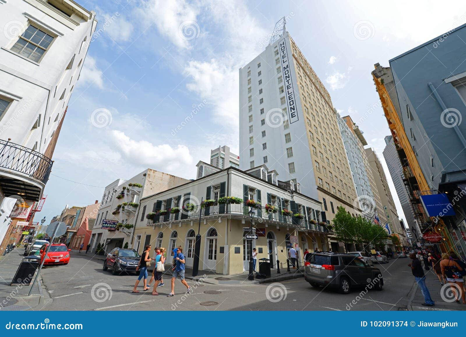 Hotel Monteleone op Koninklijke Straat in New Orleans