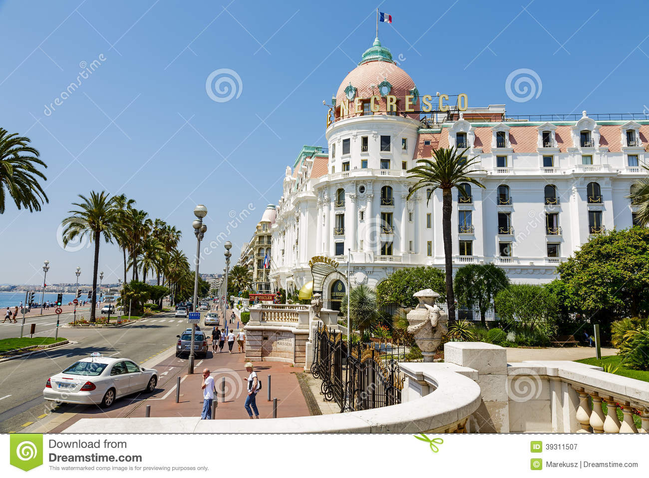 The hotel negresco in nice france editorial photography for Luxury hotels in nice