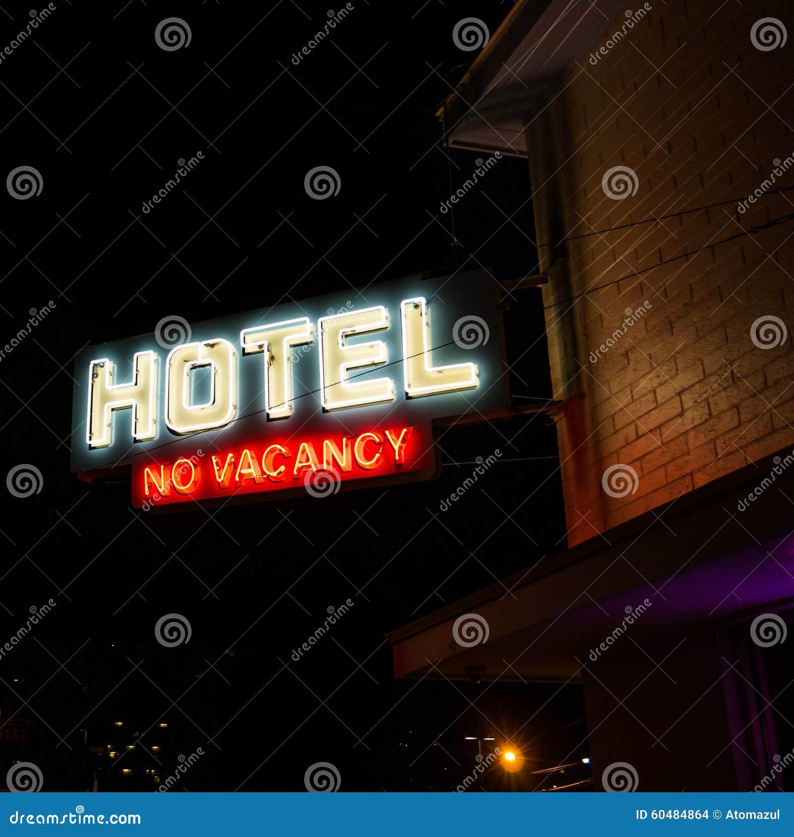 Hotel No Vacancy Neon Sign