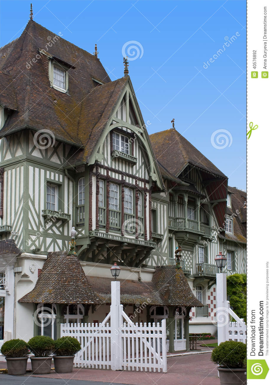 Hotel normandy barriere deauville stock photo image for Hotel deauville design