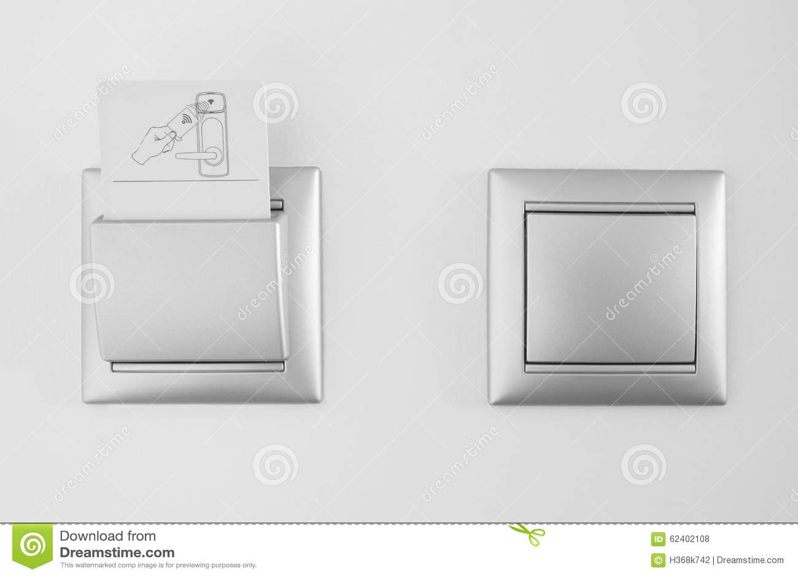 Hotel Room Key Card Wall Slots