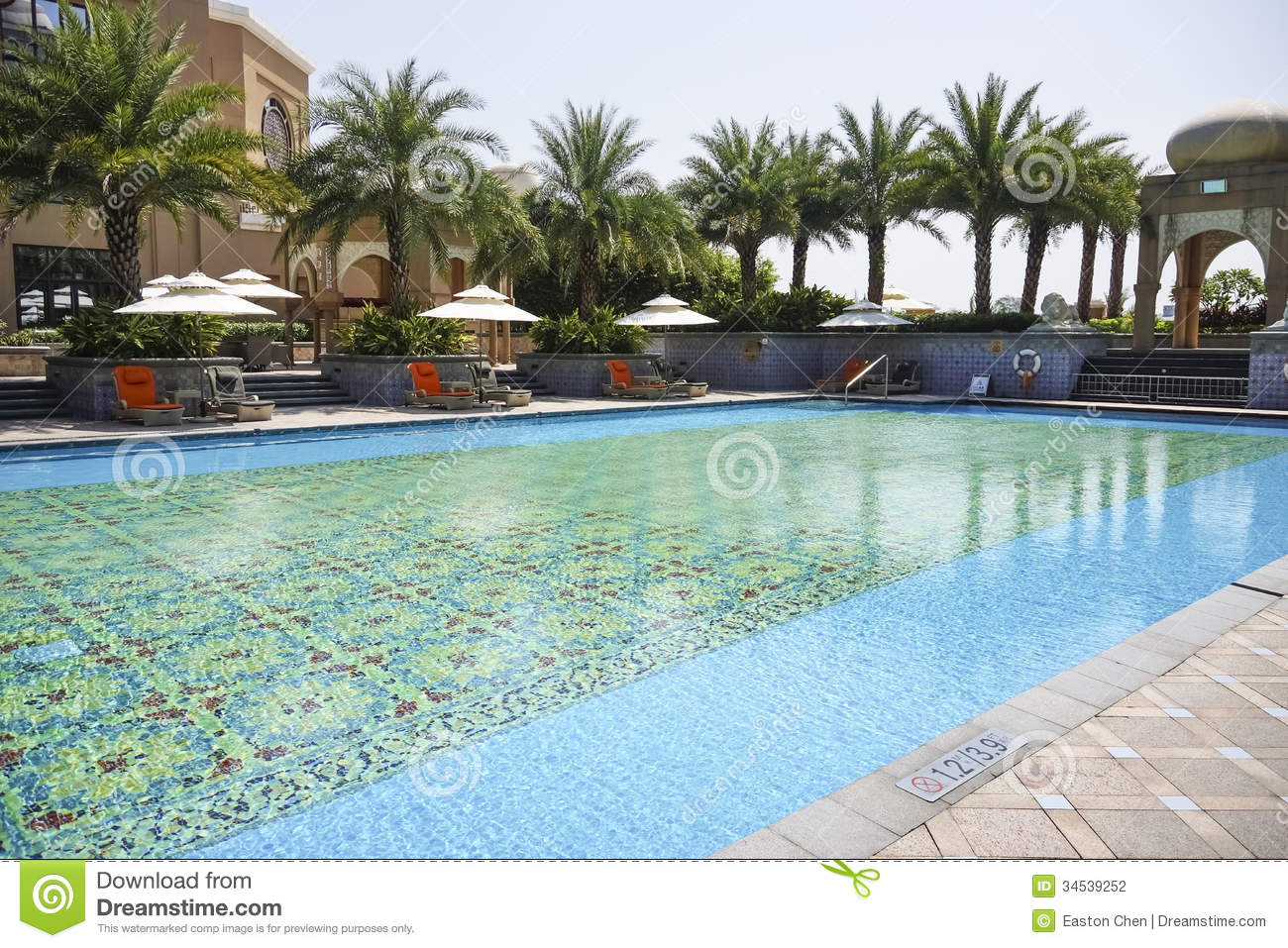 The Hotel Outdoor Swimming Pool Stock Photography Image 34539252