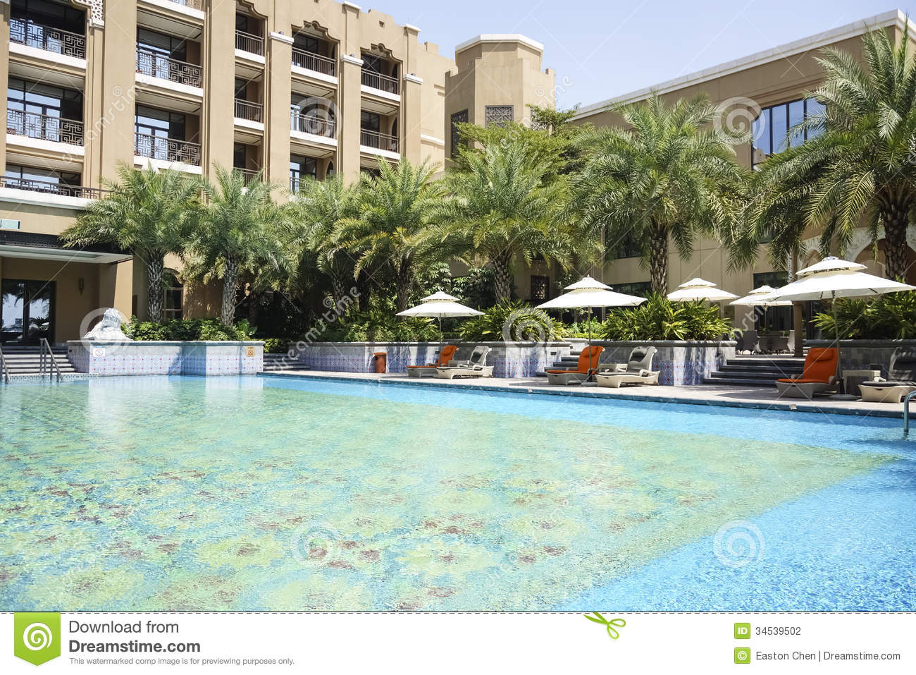 The Hotel Outdoor Swimming Pool Stock Photography Image 34539502