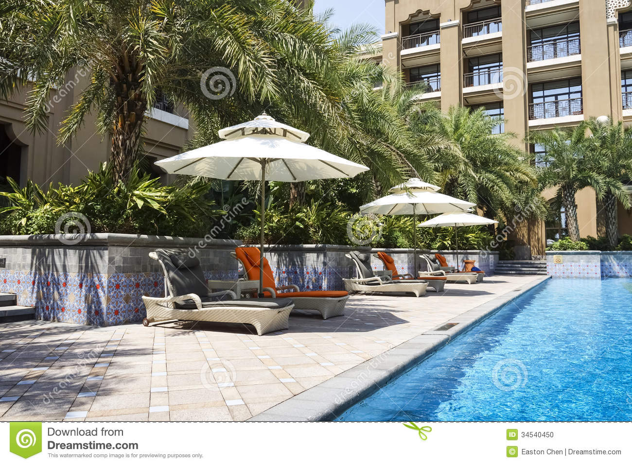 The Hotel Outdoor Swimming Pool Stock Photo Image 34540450