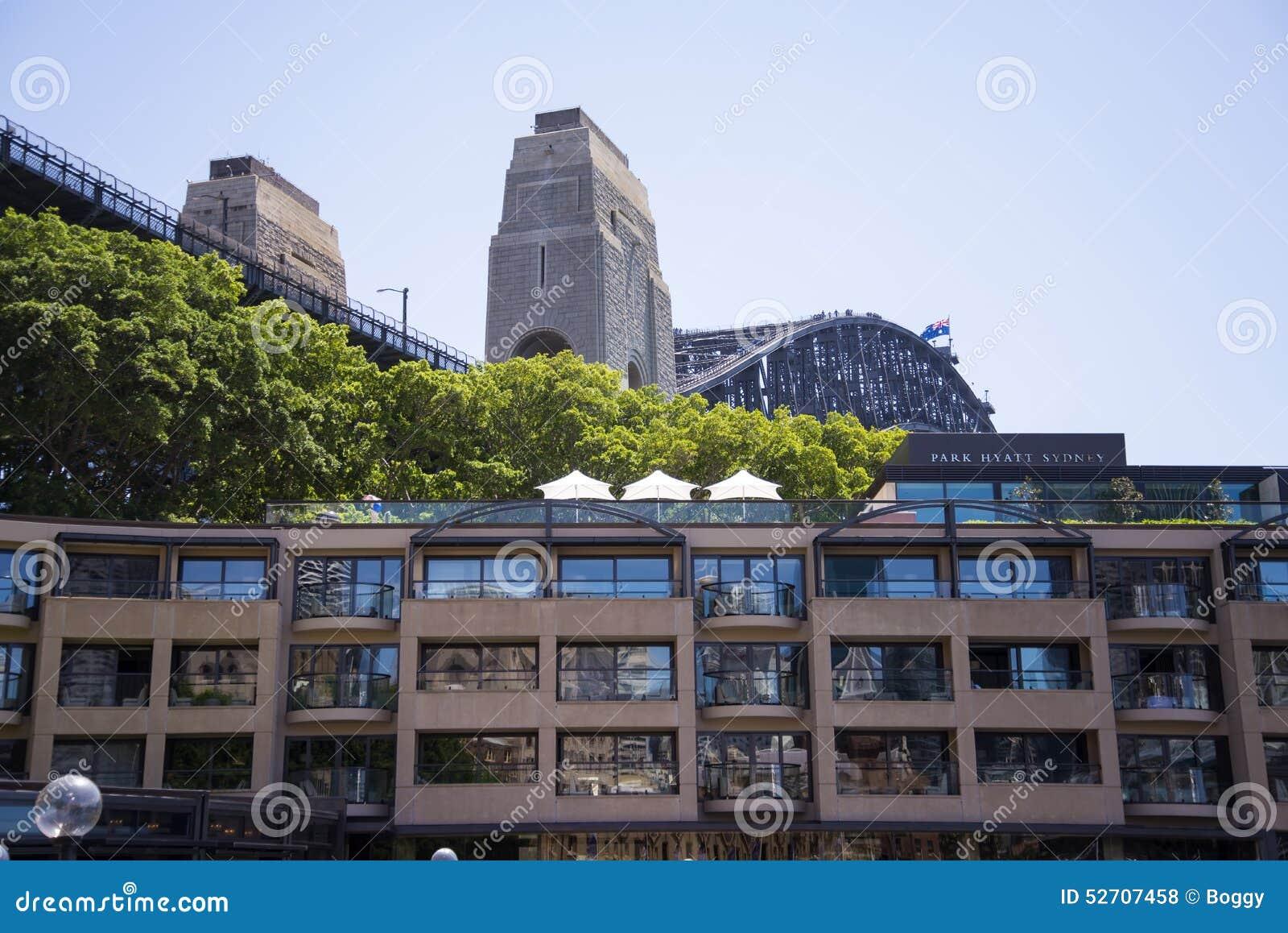 Hotel Park Hyatt Sydney Editorial Stock Photo Image Of Skyline