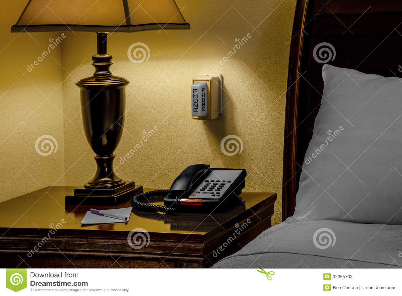 Free Bedroom Furniture Plans Hotel Phone Alert Stock Image Image Of Nobody Disabled
