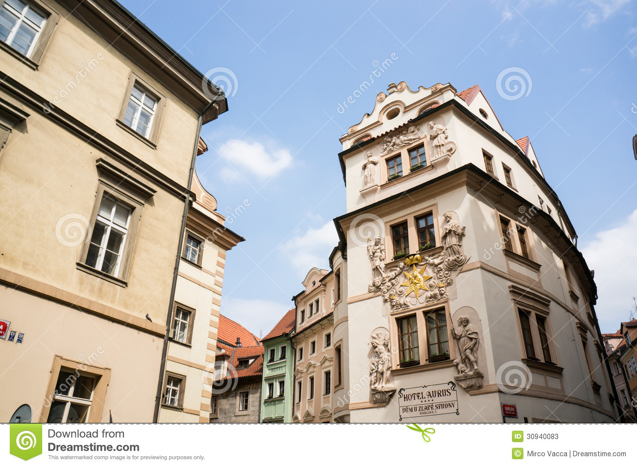 Hotel in prague editorial stock photo image of street for Hotels in prague old town
