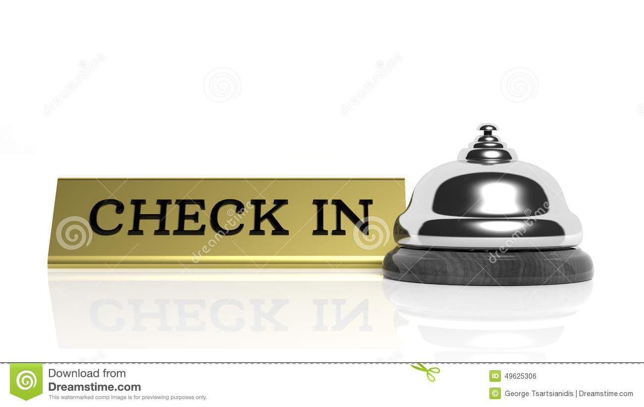 Hotel Reception Bell And Check In Stock Illustration