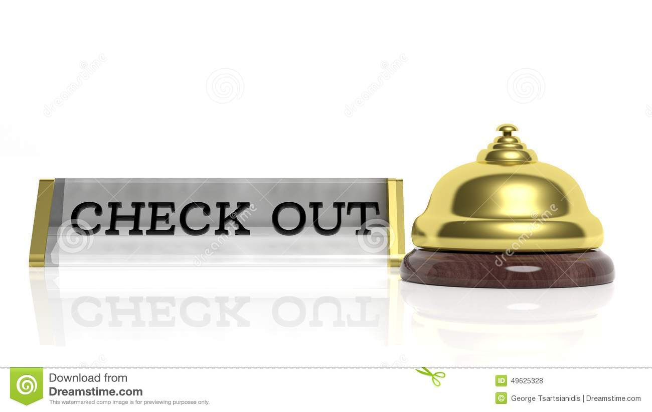 Hotel Reception Bell And Check Out Stock Illustration