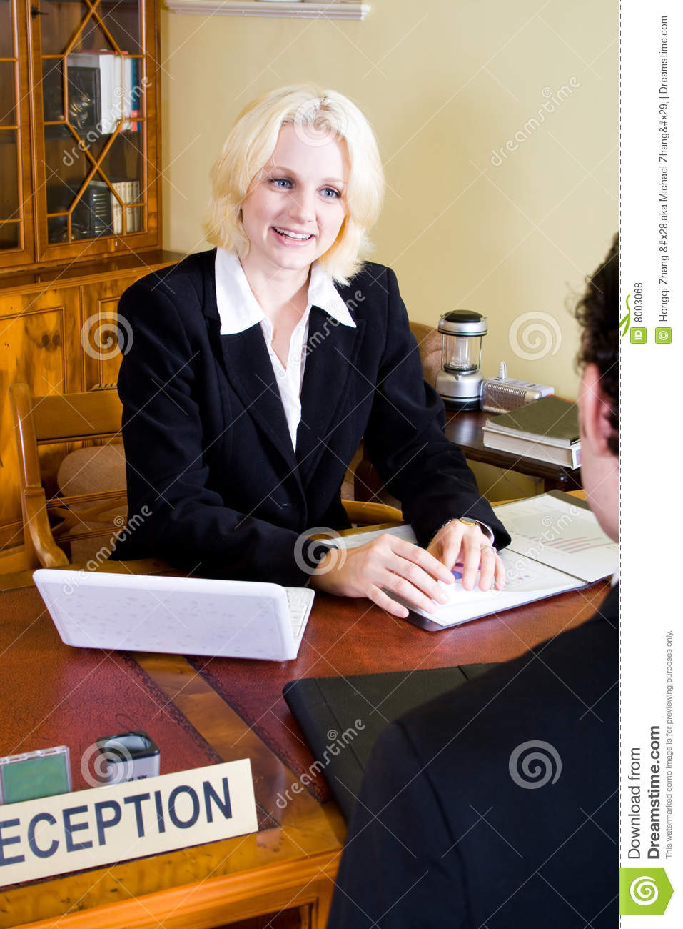 Hotel Receptionist Stock Photo Image Of Happy Hair Male