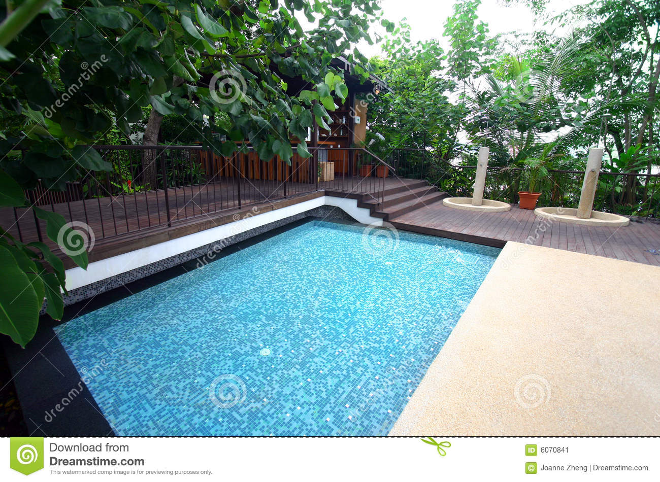 Hotel Resort Swimming Pool & Bar, Tropical Stock Image - Image ...