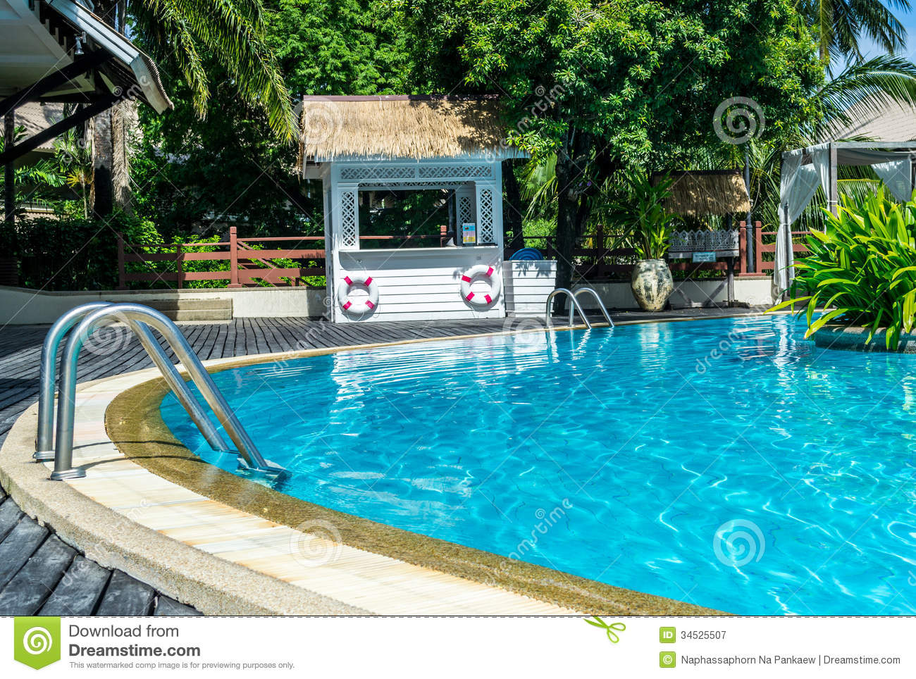 Hotel Resort Swimming Pool Royalty Free Stock Photography Image 34525507