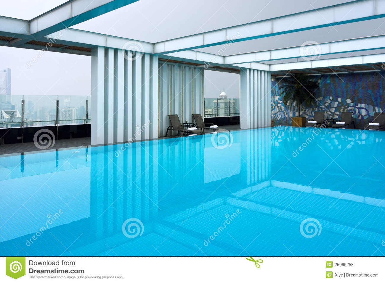 Hotel Roof Swimming Pool Stock Image Image Of Looking 25060253