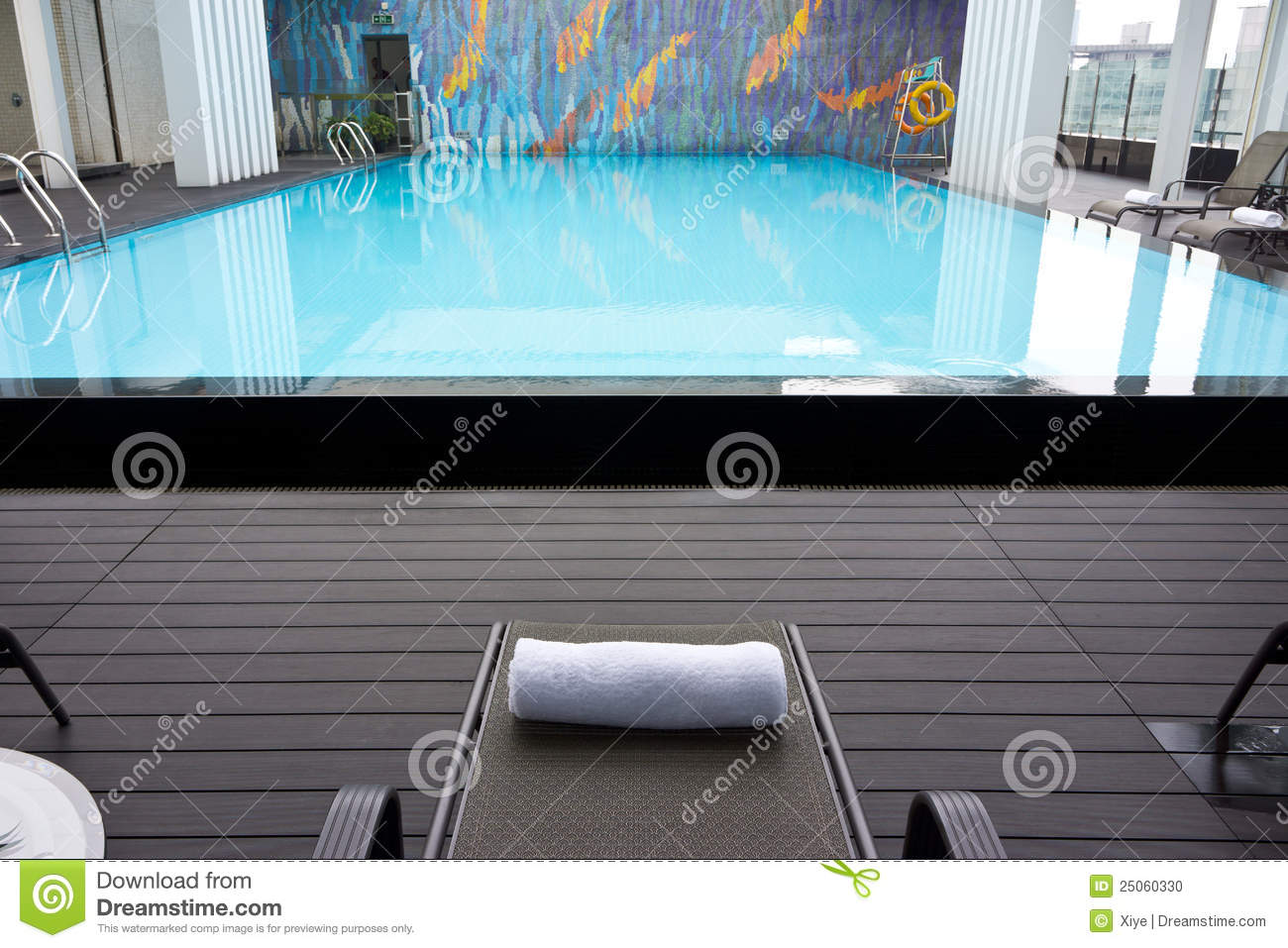 Hotel Roof Swimming Pool Stock Photo Image Of Blue