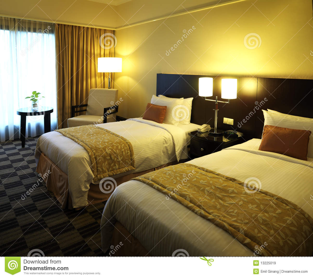 Modern hotel room interior stock photo image 18197840 - Hotel Room Royalty Free Stock Images