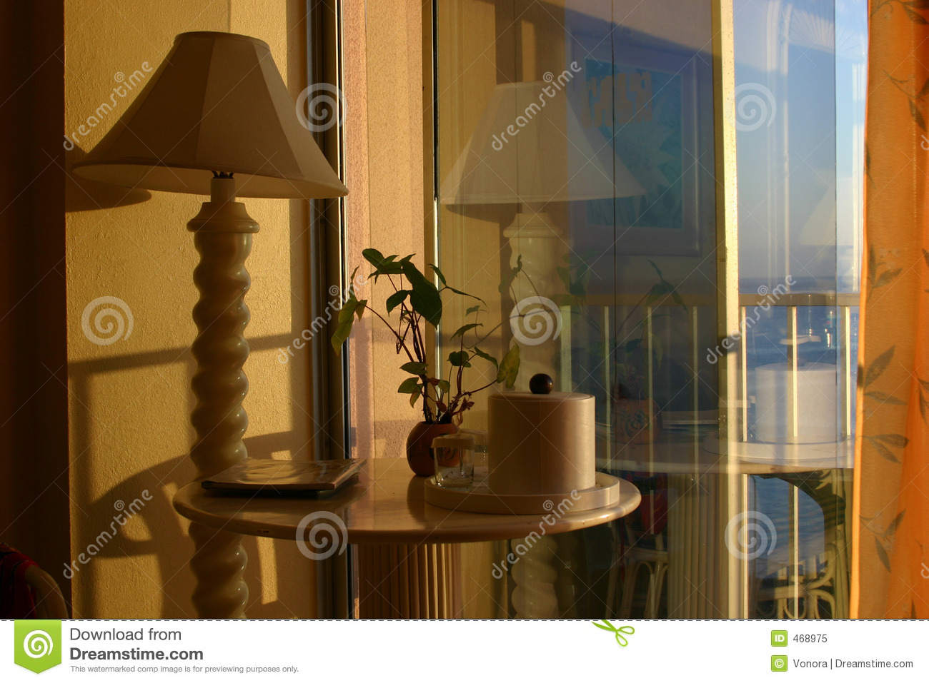 Download Hotel room stock image. Image of shade, lamp, blue, reflection - 468975