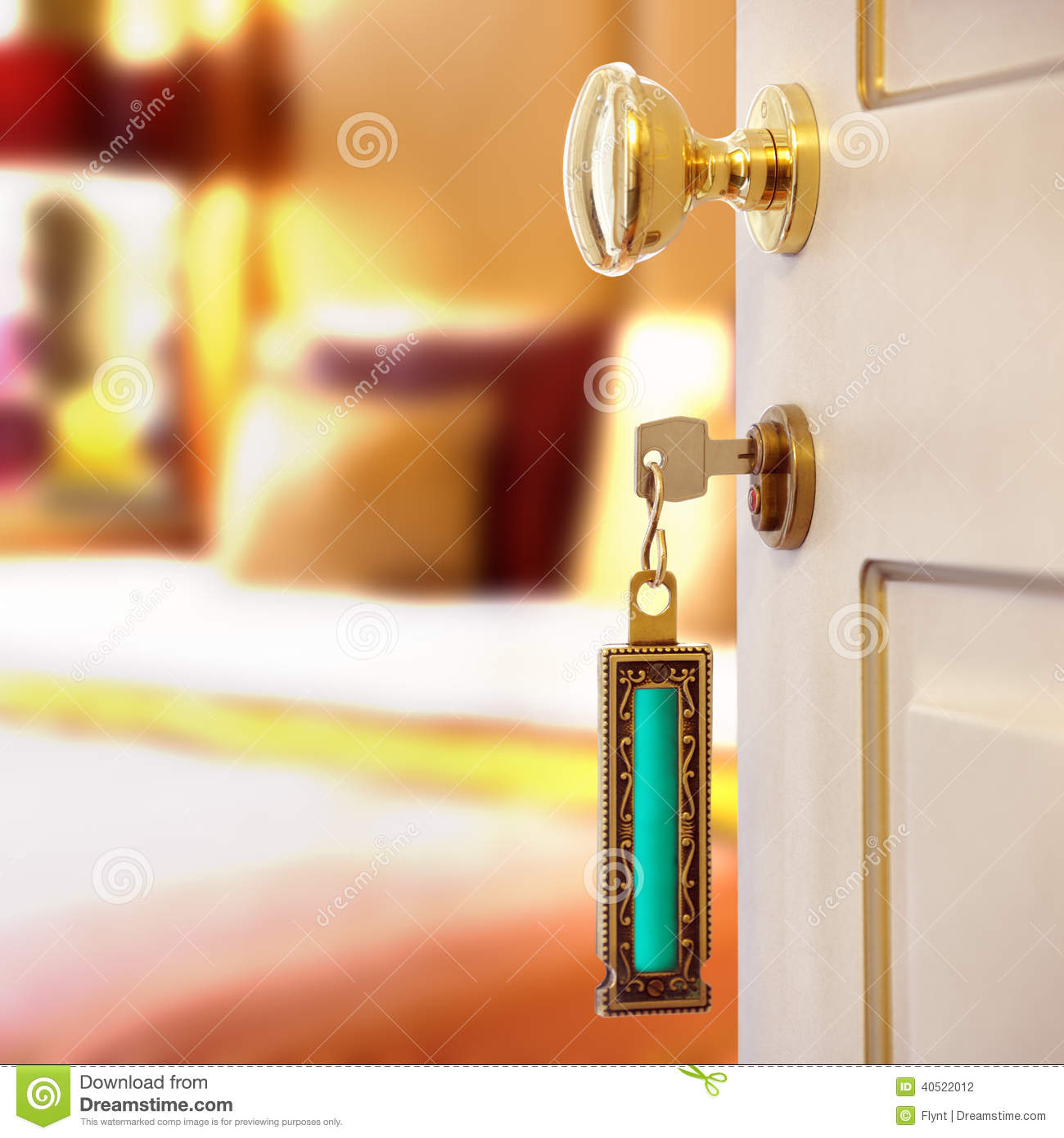 How To Open A Bedroom Door Lock: Hotel Room Stock Photo. Image Of Indoor, Lock, Colour