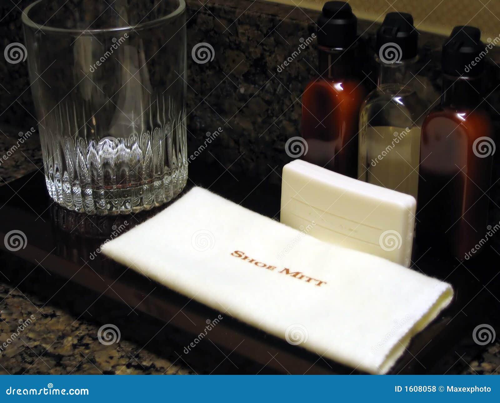 Hotel Room Bathroom Amenities. Hotel Room Bathroom Amenities Royalty Free Stock Photos   Image