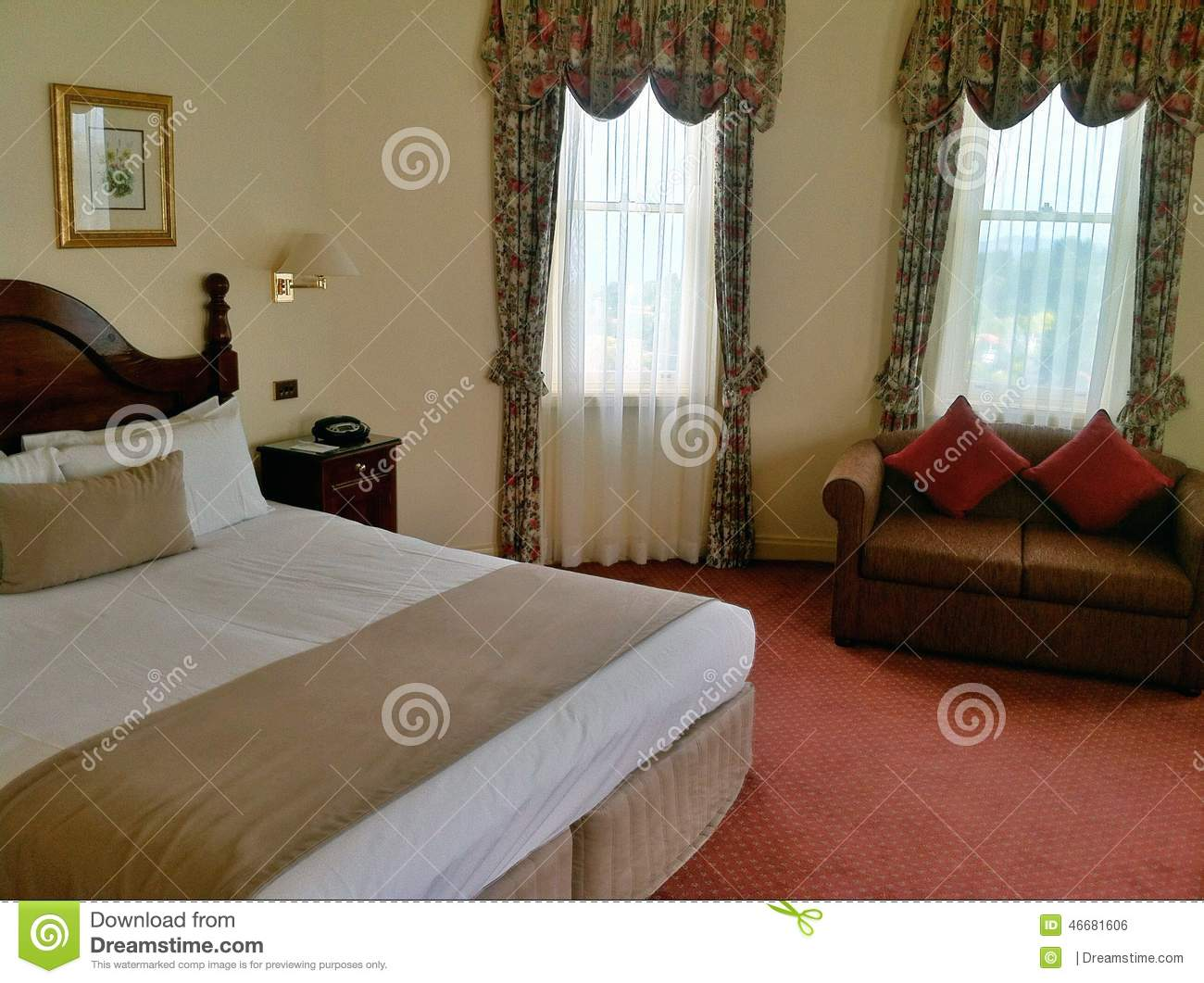 Hotel room with bed and sofa stock photo image 46681606 for Hotel room with sofa bed