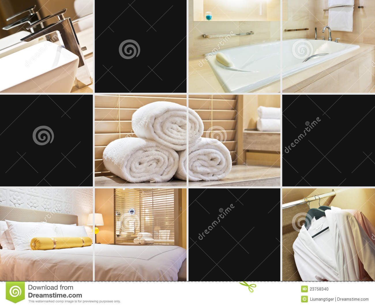 Modern hotel room interior stock photo image 18197840 - Hotel Room Collage Stock Photo